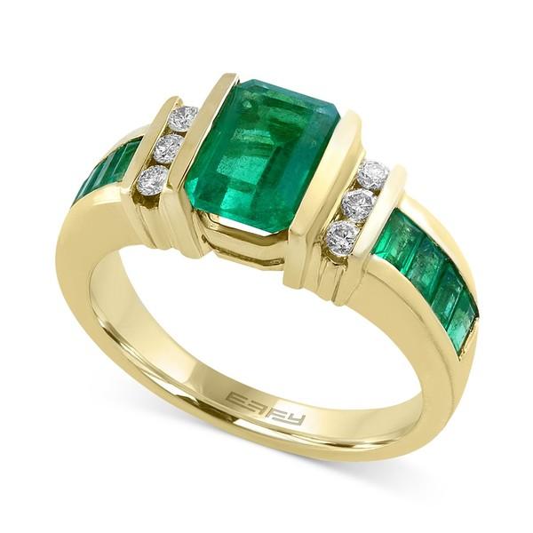 定番 エフィー コレクション レディース リング Emerald) アクセサリー EFFY® Sapphire in (2-1 Sapphire/4 ct. t.w.) and Diamond (1/6 ct. t.w.) Ring in 14k Gold(Also Available in Emerald) Emerald, オウタキムラ:846144f2 --- greencard.progsite.com