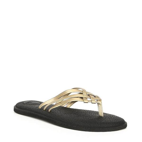 サヌーク レディース サンダル シューズ Women's Yoga Salty Metallic Flip Flop Sandals Champagne