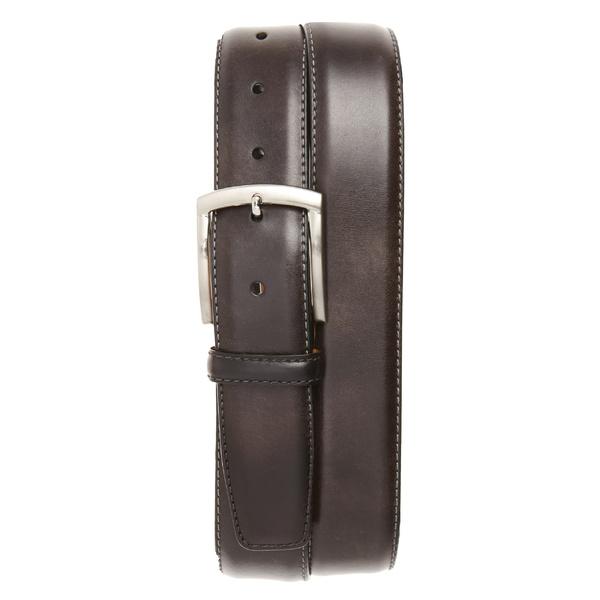 マグナーニ メンズ ベルト アクセサリー Magnanni Tanning Leather Belt Grey