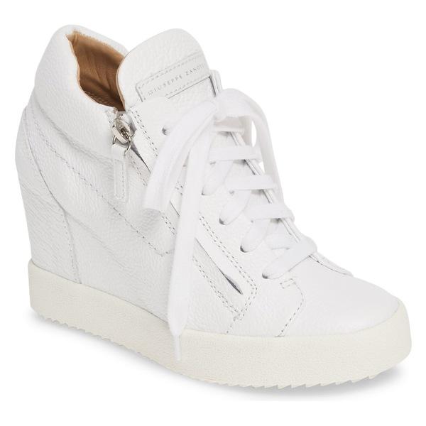 ジュゼッペザノッティ レディース スニーカー シューズ Giuseppe Zanotti High Top Wedge Sneaker (Women) White