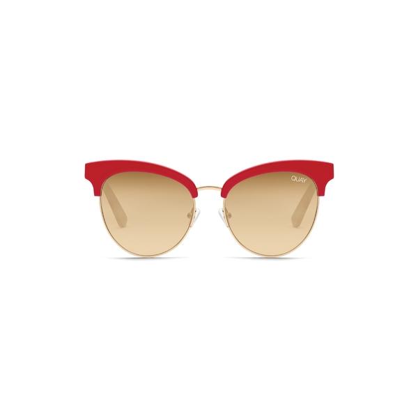 クアイオーストラリア レディース サングラス&アイウェア アクセサリー Quay Australia Cherry 56mm Sunglasses Red / Brown Flash