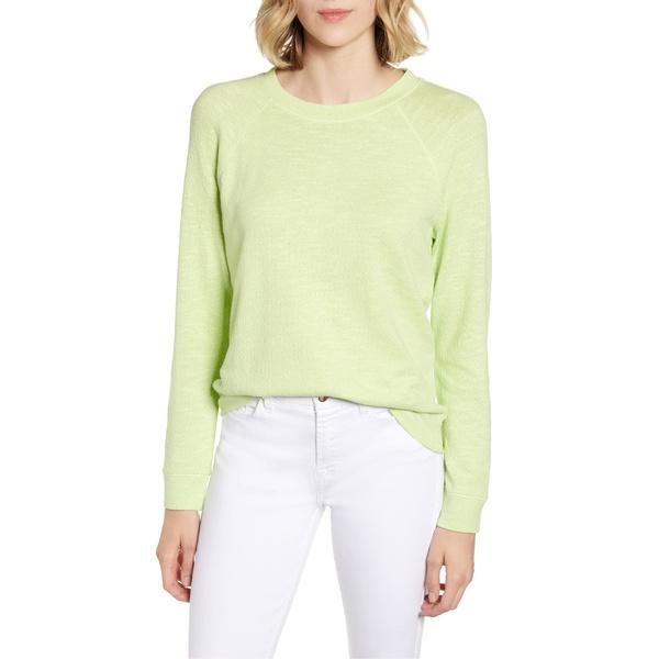 ルーアンドグレイ レディース パーカー・スウェットシャツ アウター Lou & Grey Textured Sweatshirt Bright Green