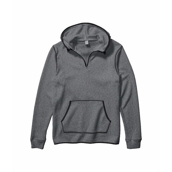 超人気 オルタナティヴ メンズ アウター パーカー スウェットシャツ Eco 割引 Grey Black 全商品無料サイズ交換 1 Zip Outdoor 4 Hoodie Eco-Teddy
