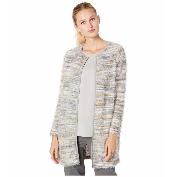 カルバンクライン レディース ニット&セーター アウター Long Brushed Knit Cardigan Grey Multi