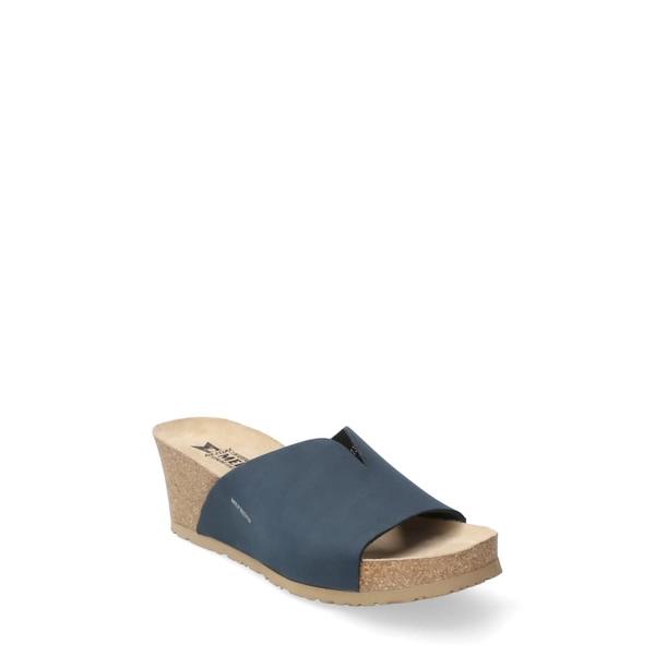 メフィスト レディース サンダル シューズ Lisane Slide Sandal Navy Nubuck Leather