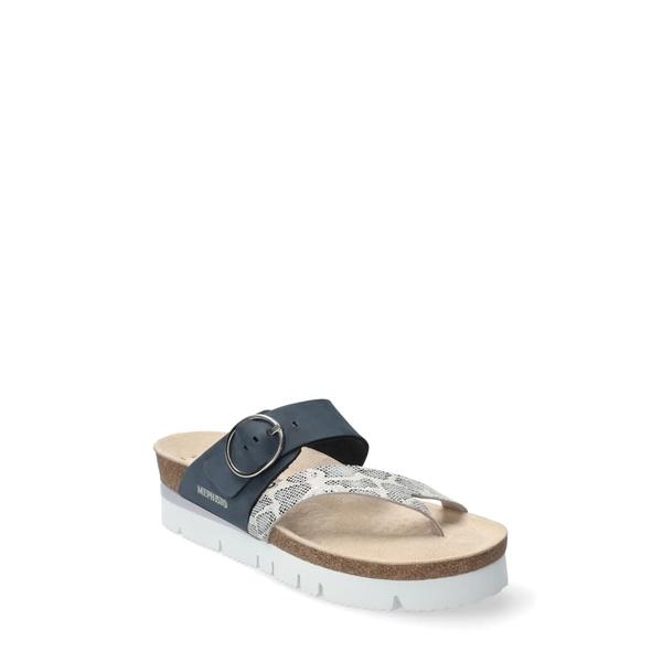 メフィスト レディース サンダル シューズ Vik Slide Sandal Navy Nubuck Leather