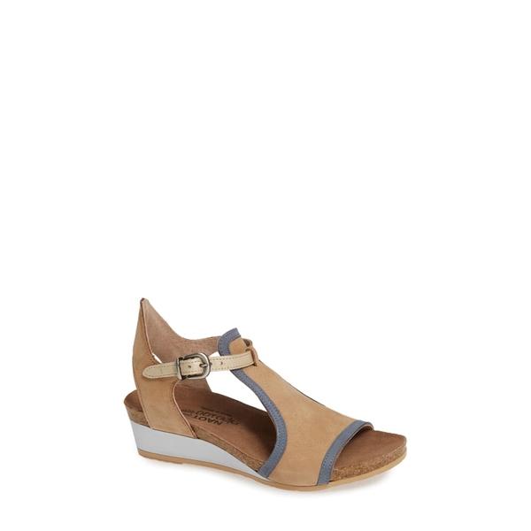 ナオト レディース サンダル シューズ Fiona Wedge Sandal Nude/ Blue/ Gold Leather