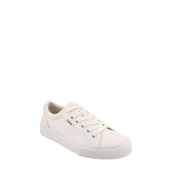 タウス レディース スニーカー シューズ Plim Soul Sneaker White Canvas