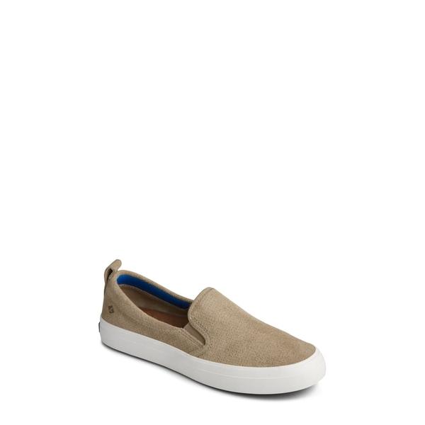 スペリー レディース スニーカー シューズ Crest Twin Gore Slip-On Sneaker Cornstalk Leather