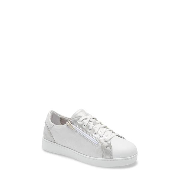 ダイビッドテイト レディース スニーカー シューズ Elisa Sneaker Silver/ White Leather