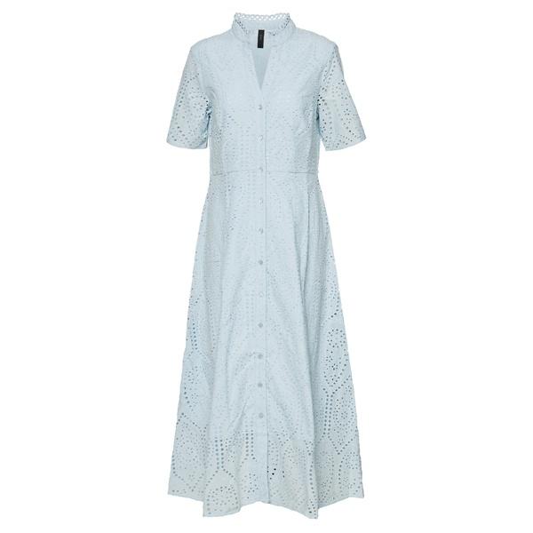 ヤス レディース トップス ワンピース cool blue 全商品無料サイズ交換 YASHOLI トレンド 着後レビューで 送料無料 SHIRT gqve022a DRESS LONG dress - Maxi