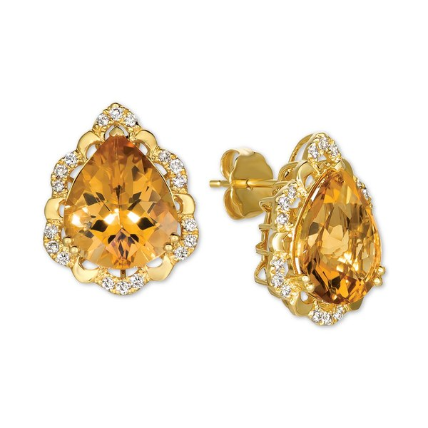 品質保証 ルヴァン Citrine レディース ピアス Citrine&イヤリング アクセサリー t.w.) Cinnamon Citrine (6 ct. t.w.) & Nude Diamonds (1/4 ct. t.w.) Stud Earrings in 14k Gold Citrine, ドッグフードの食糧:fd520f55 --- ltcpackage.online