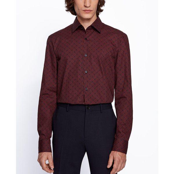 【新発売】 ヒューゴボス メンズ シャツ トップス BOSS Men&39;s Jango Slim-Fit Shirt Open Orange, ブランド古着の買取販売 渋谷FILT e278b165