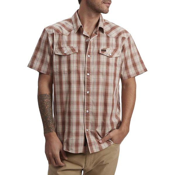 ハウラーブラザーズ メンズ シャツ トップス H Bar B Snap Shirt - Men's Neches Plaid Red Clay
