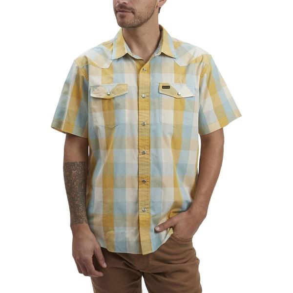 ハウラーブラザーズ メンズ シャツ トップス H Bar B Snap Shirt - Men's Alpine Plaid Light Blue Dijon