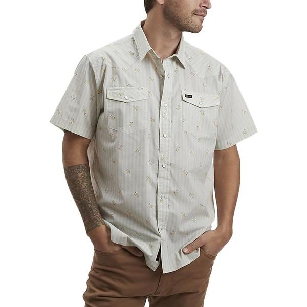 ハウラーブラザーズ メンズ シャツ トップス H Bar B Snap Shirt - Men's Vintage Grid Floral Medium White