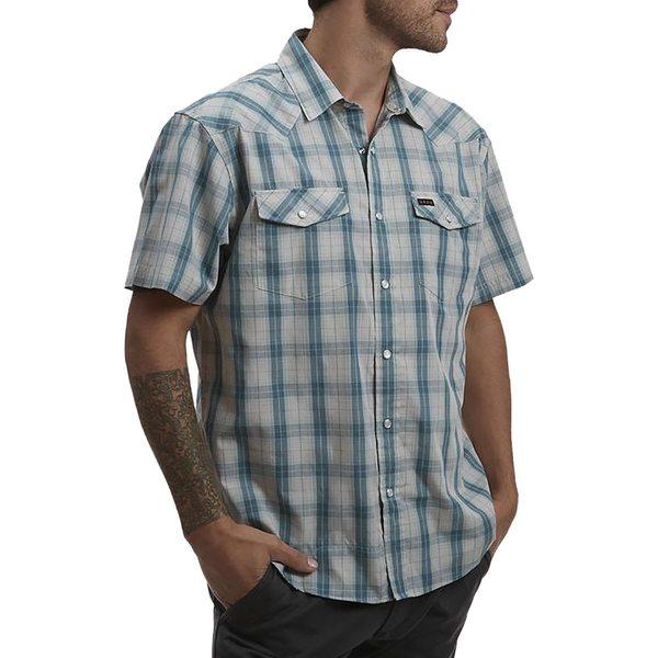 ハウラーブラザーズ メンズ シャツ トップス H Bar B Snap Shirt - Men's Neches Plaid River Blue