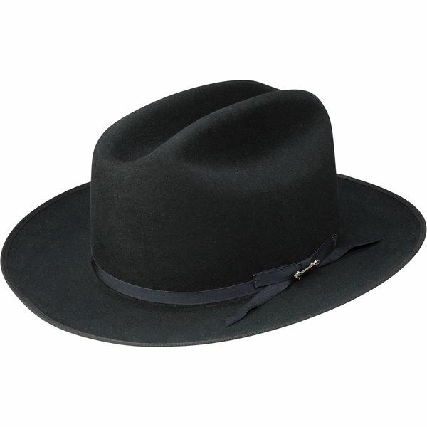 ステトソン メンズ 帽子 アクセサリー Open Road Royal Deluxe Hat Black