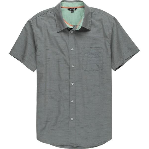 ストイック メンズ シャツ トップス Nep Solid Woven Short-Sleeve Button-Up Shirt - Men's Multi