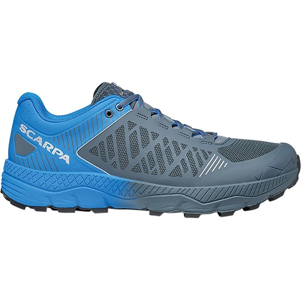 スカルパ メンズ ランニング スポーツ Spin Ultra Running Shoe - Men's Iron Grey/Vivid Blue