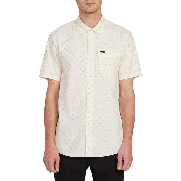 ボルコム メンズ シャツ トップス Mark Mix Short-Sleeve Shirt - Men's White Flash