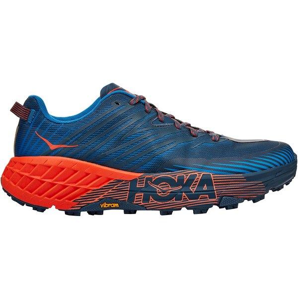 ホッカオネオネ メンズ ランニング スポーツ Speedgoat 4 Running Shoe - Men's Majolica Blue/Mandarin Red