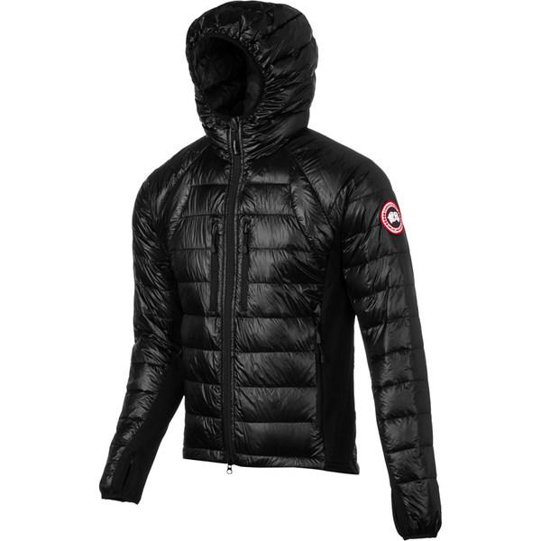 カナダグース メンズ ジャケット&ブルゾン アウター Hybridge Lite Hooded Down Jacket - Men's Black
