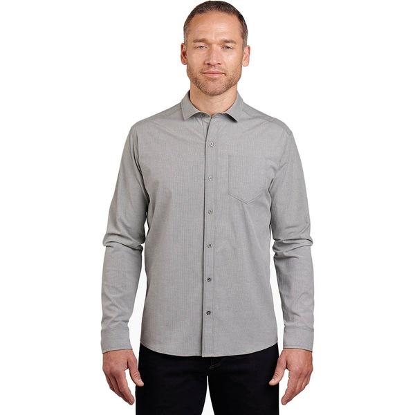 キュール メンズ シャツ トップス Disputr Long-Sleeve Shirt - Men's Harbor Grey