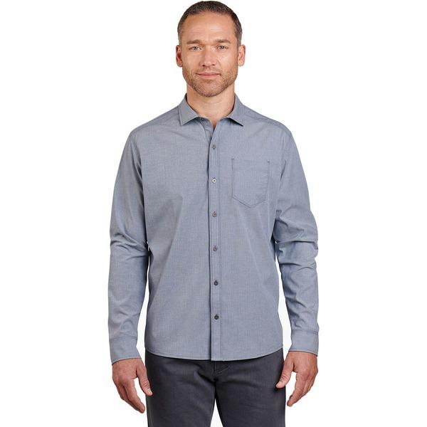 キュール メンズ シャツ トップス Disputr Long-Sleeve Shirt - Men's Marin Blue