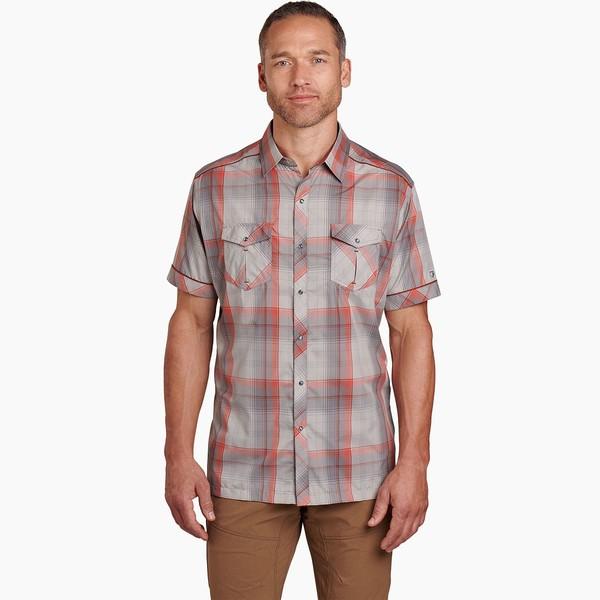 キュール メンズ シャツ トップス Konquer Shirt - Men's Red Cinder