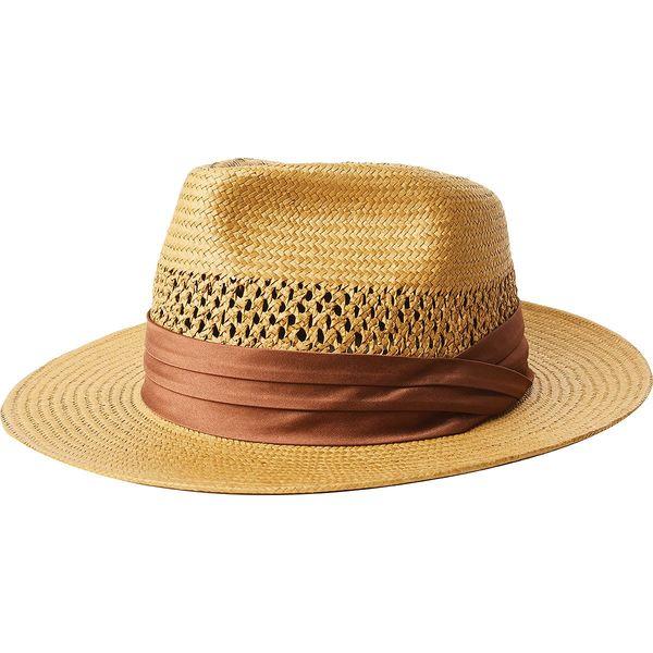 ブリクストン メンズ 帽子 アクセサリー Goodman Straw Fedora Copper