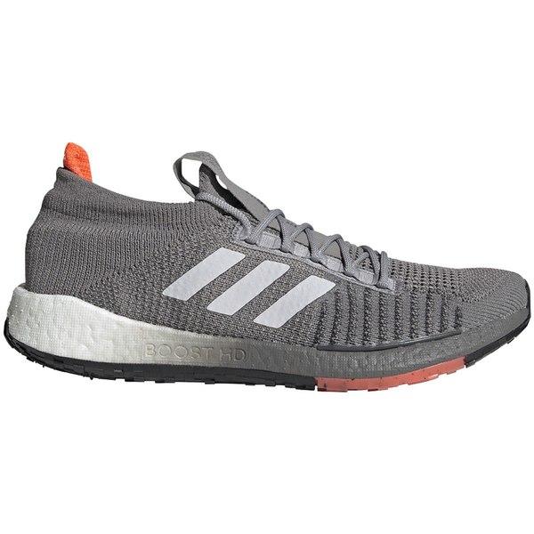 アディダス メンズ ランニング スポーツ PulseBoost HD Running Shoe - Men's Dove Grey/Signal Red