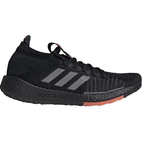 アディダス メンズ ランニング スポーツ PulseBoost HD Running Shoe - Men's Core Black/Grey Three/Signal Red