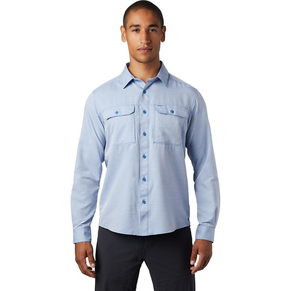 マウンテンハードウェア メンズ シャツ トップス Canyon Long-Sleeve Shirt - Men's Deep Lake