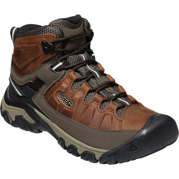 キーン メンズ ハイキング スポーツ Targhee III Mid Leather Waterproof Hiking Boot - Men's Chestnut/Mulch