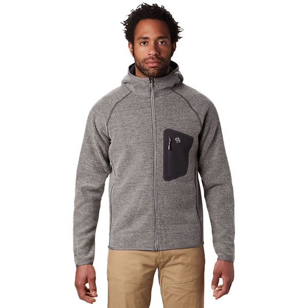 マウンテンハードウェア メンズ ジャケット&ブルゾン アウター Hatcher Full-Zip Hooded Jacket - Men's Manta Grey