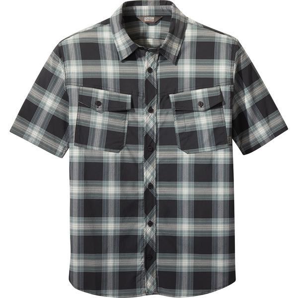アウトドアリサーチ メンズ シャツ トップス Wanderer Short-Sleeve Shirt - Men's Black Plaid