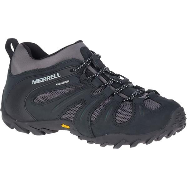 メレル メンズ ハイキング スポーツ Chameleon 8 Stretch Waterproof Hiking Shoe - Men's Black/Grey