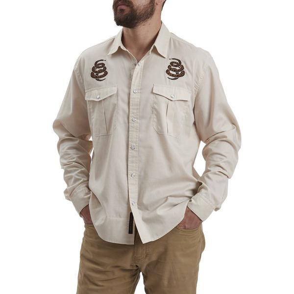 ハウラーブラザーズ メンズ シャツ トップス Gaucho Snapshirt - Men's Riverbed Oxford Cottonmouth