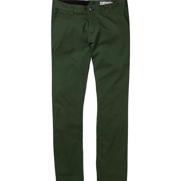 ボルコム メンズ カジュアルパンツ ボトムス Frickin Modern Stretch Chino Pant - Men's Cilantro Green