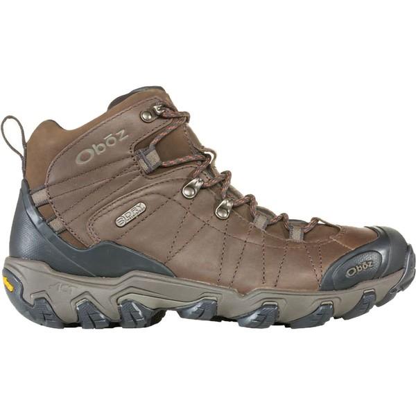 オボズ メンズ ハイキング スポーツ Bridger Premium Mid B-Dry Hiking Boot - Men's Saddle Brown