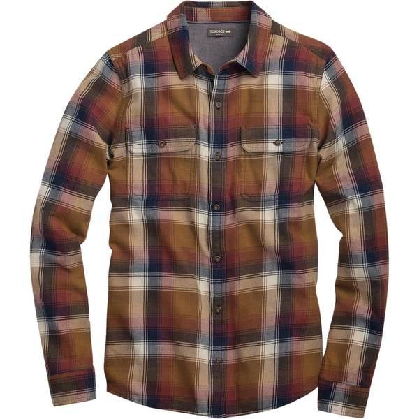 ドード アンドコー メンズ シャツ トップス Indigo Flannel Slim Long-Sleeve Shirt - Men's Dijon