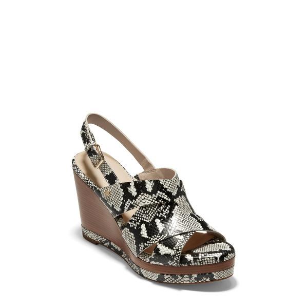 コールハーン レディース サンダル シューズ Laci Platform Wedge Sandal Pumice Snake Print Leather