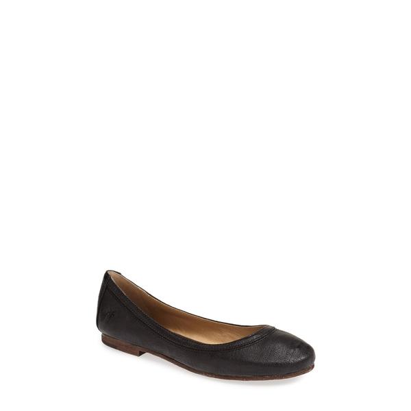 フライ レディース サンダル シューズ 'Carson' Ballet Flat Black/ Black Leather