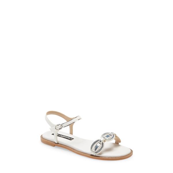 カールラガーフェルド レディース サンダル シューズ Gage Sandal White/ Silver Leather