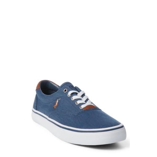 ラルフローレン メンズ スニーカー シューズ Thorton Low Top Sneaker Newport Navy Fabric