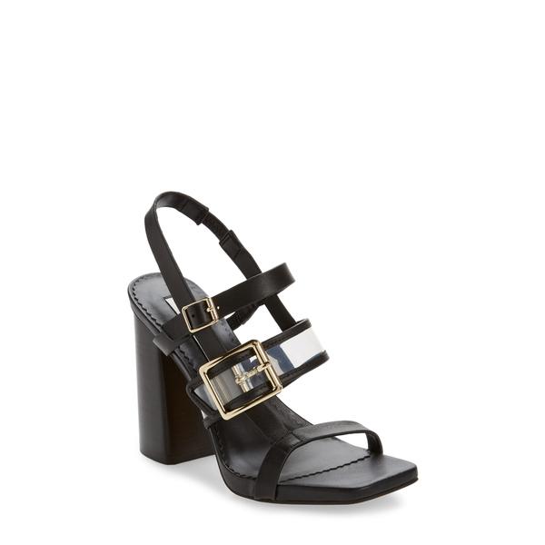 カールラガーフェルド レディース サンダル シューズ Marlow Slingback Sandal Black/ Clear Leather
