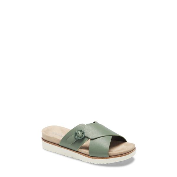 ケンジー レディース サンダル シューズ Delicah Slide Sandal Sage Canvas