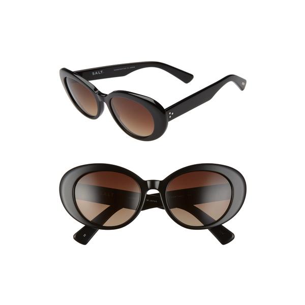 ソルト レディース サングラス&アイウェア アクセサリー Courtney 54mm Polarized Cat Eye Sunglasses Black/ Brown