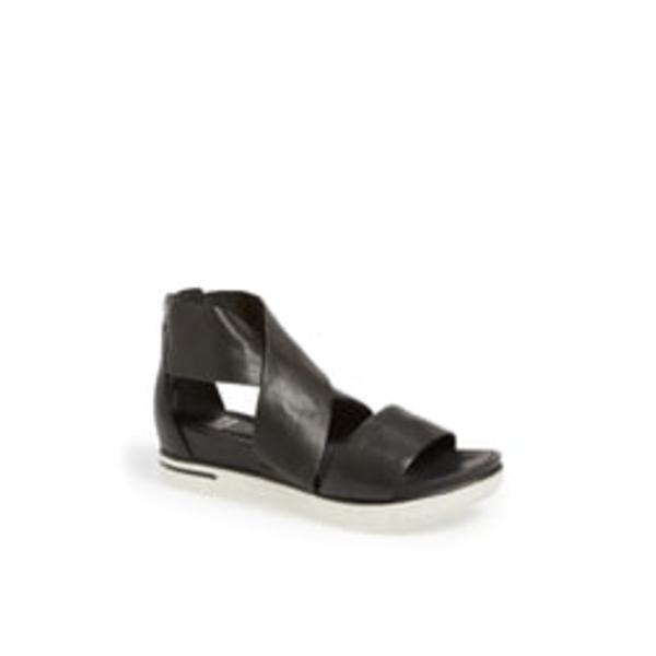 エイリーンフィッシャー レディース サンダル シューズ Sport Platform Sandal Black Leather
